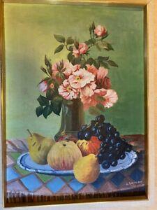 C.Ackermann, Stillleben, Öl/Leinwand, signiert, Gemälde