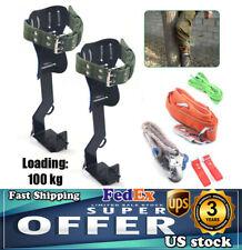 100kg Treepole Climbing Spike Safety Belt Straps Lanyard Carabiner Ropes 2 Gear