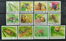 COMPLETE SET SINGAPORE 1985 INSECTS SG 491 - 502 MNH OG FRESH