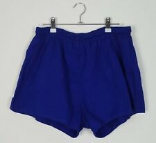 VINTAGE 90'S BLUE SPRINTER HIGH CUT SHORTS SPORT ATHLETIC GYM RUNNING UK L