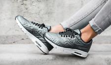 NEW Nike Air Max 1 Ultra PRM JCRD Women's 5.5 Metallic Silver Black 861656-001