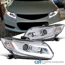 For 12-15 Honda Civic 2/4Dr Coupe Sedan Clear Projector Headlights+LED DRL Bar