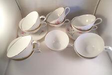 Vintage Royal Court Fine China Japan Carnation Set of 11 Cups & 2 Saucers