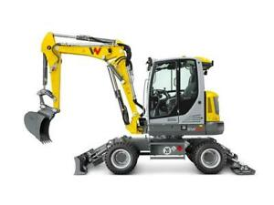 SIKU 3560  1/50 SCALE Super Wacker Neuson EW65 Mobile Excavator, Yellow