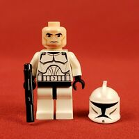Genuine Lego 8014 Star Wars White Clone Trooper Minifigure with Blaster