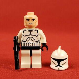 Genuine Lego 8014 Star Wars White Clone Trooper Minifigure with Blaster