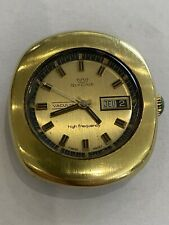 Montre GLYCINE VACUUM AUTOMATIC ancienne SWISS date HIGH FREQUENCY Vintage 1970