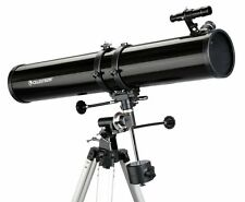 Celestron PowerSeeker 114EQ Reflector Telescope Up To 675x Power inc Barlow Lens