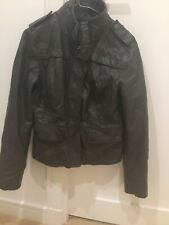 Ladies Genuine Michael Kors grey Leather Jacket Size M