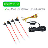 Universal Micro USB Hard Wire Fuse Kit 12V to 5V Vehical Charger Hot For Car DVR