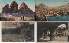 Lotto 4 Cartoline Storia Postale REGNO ITALIA-RIVA GARDA TRE CIME LAVAREDO 1925