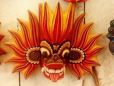 Ceylon Mask  Hand Carved Wood Wall Home Decor Sculpture Collection