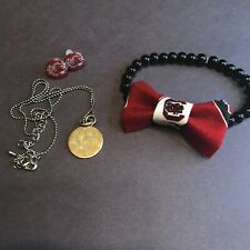 USC Gamecocks Jewelry Set Cocky Carolina Necklace Earrings Bracelet
