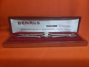 Pair of Vintage Benrus 14K & 10k Gold Women's Watches Original Case