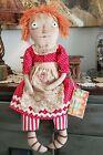 "NUTMEG ORIGINALS 19"" Primitive Raggedy Ann Doll OOAK Handmade Signed"