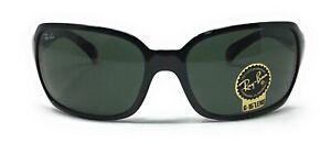 Ray-Ban Highstreet Women's Gloss Black Green Classic Lens Sunglasses RB4068