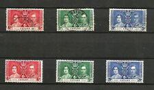 Ceylon 1937 KGV1 Set Coronation MM & Used SG 383 - 385 2 sets