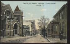 Postcard ALTOONA Pennsylvania/PA  12th Twelfth Ave Houses/Homes & Church 1907
