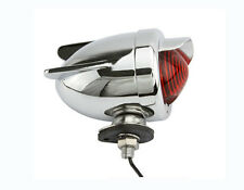 BICYCLE REAR DUMMY LIGHTS RED AND CHROME WITH WINGS