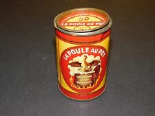 "OLD FRENCH FOOD TIN ""LA POULE AU POT CONSOMME EXTRA SUPERIEUR"""