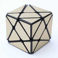 Gold brushed metallic Turbo master Skewb Magic King Kong Axis Cube Twist Puzzle