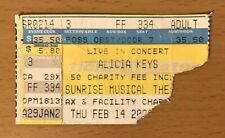 2004 Alicia Keys Sunrise Florida Concert Ticket Stub Fallin Songs In A Minor 334