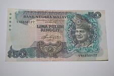 (PL) RM 50 VN 6850177 AZIZ TAHA 5TH SERIES LAST PREFIX - VF CONDITION