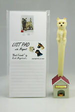 Cairn Terrier~ Magnetic List Pad & Pen Set With Matching Refrigerator Magnet
