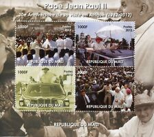 Mali 2012 MNH Pope John Paul II Visit Africa 30th Anniv 4v M/S Popes Stamps