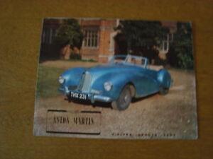 Aston Martin 2 litre sports cars brochure