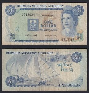 Bermuda 1 Dollar 1982 BB Vf- A-10