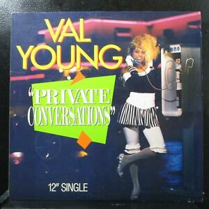 """Val Young - Private Conversations Mint- 12"""" Amherst AMHD 129 USA 1987"""