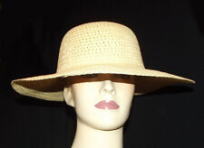 New Beige Fashion Hat Floppy large wide brim Women Packable fold Travel summer