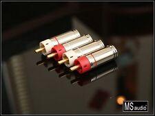 Valab -- Star -- Gold Plated Tellurium Copper RCA Plugs 2 Pair