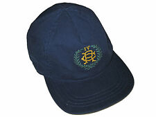 Ralph Lauren Navy Blue Rugby Madras Plaid Reversible Baseball Hat Cap