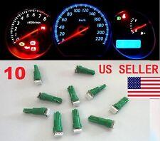 10x T5 Green Car 5050 SMD 1LED Instrument Dashboard Gauge Mini Wedge Bulb light