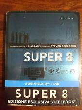 Super 8 steelbook blu-ray J.J. Abrams S. Spielberg NEUF SOUS BLISTER VF incluse