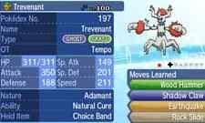 Pokemon Strategy Guide: Shiny Trevenant 6IV +Items Customization For Sun/Moon