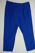 SUSSAN electric blue relaxed fit cropped capris pants size 18 BNWT