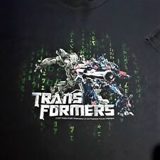 Transformers 2007 Optimus Prime Megatron Men XL Black Steve & Barry T--Shirt