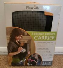 Fleurville 3 Position Comfort Baby Carrier Nwt Newborn to Toddler/ 8-26 lbs