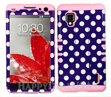 KoolKase Hybrid Silicone Cover Case for Sprint LG Optimus G LS970 Dots Purple