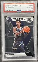 2019-20 Panini Mosaic Ja Morant Rookie Debut PSA 10 GEM MT #274 Grizzlies RC