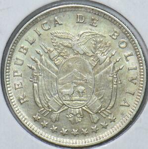 Bolivia 1909 H 20 Centavos Eagle animal Alpaka 295408 combine shipping