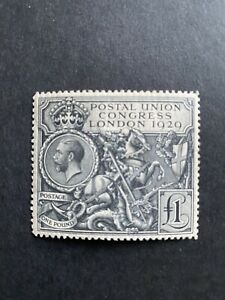 GB 1929 SG 438, King George V , £1 MH Stamp