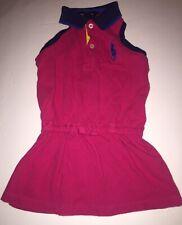 New listing Ralph Lauren Baby Girls Drop Waist Tennis Dress Sz 18 M Pony Logo Pink Us Flag