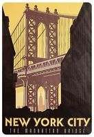 New York City Manhattan Bridge Blechschild Schild gewölbt Tin Sign 20 x 30 cm