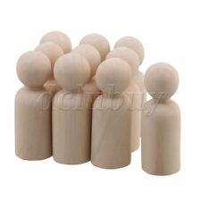10 x Painted Art Wooden People Peg Dolls Craft Figurine 65CM Male Doll