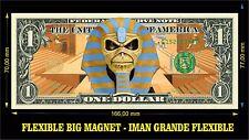 IRON MAIDEN MASK IMAN BILLETE 1 DOLLAR BILL MAGNET