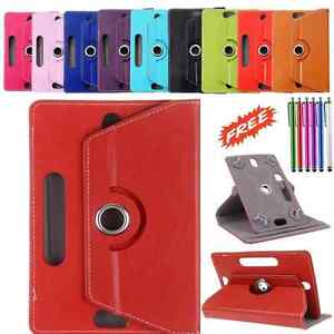 """360° Rotating Case Cover Fits 8"""" Inch Lenovo Tab S8-50 Tablet with Free Stylus"""